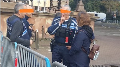 idle_local_municipal_policemen_laugh_while_handicaped_journalist_with_cratches_is_blocked_and_standing_waiting_for_2_3_hours..._eurofora_400