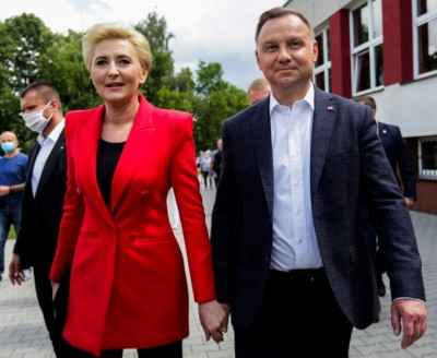 polish_president_duda_with_wife_at_election_day_400