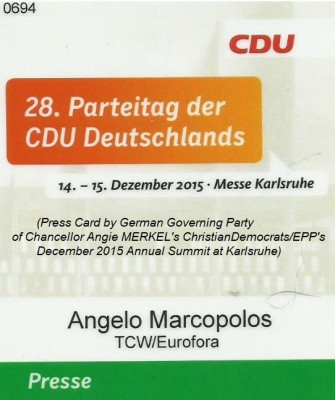 press_card_by_german_governing_party_of_chancellor_angie_merkels_christiandemocrats_for_annual_summit_of_1415_december_2015_400_01